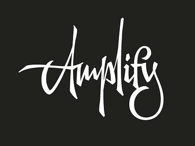 amplify letterworks calligraphy customtype script branding graphic design vector wordmark logotype brush type letters logo typeface typography lettering