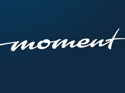 moment calligraphy logo brush type typography lettering