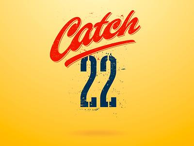 catch-22 calligraphy vector branding customtype letterworks texture graphic design tv series tv show wordmark brush script design letters logo font type typography typeface lettering