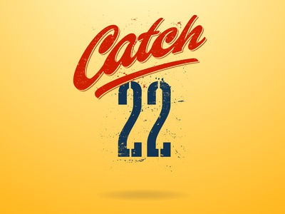 catch-22 calligraphy vector branding customtype letterworks texture graphic design tv series tv show wordmark brush script design letters logo font type typography typeface lettering