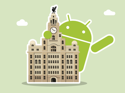 Liverpool Android liverbird droid graphic liverpool android building