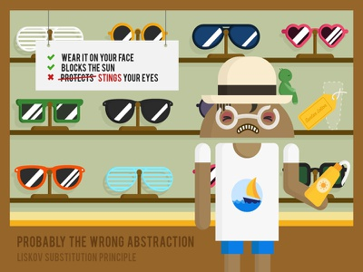 Liskov's Substitution Principle solid principle poster novoda illustration graphic glasses android