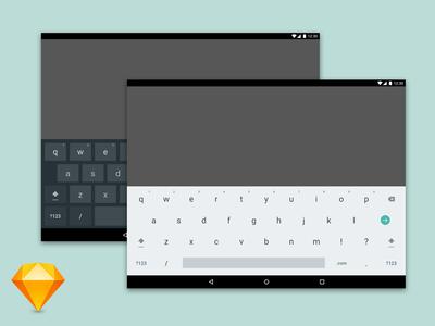 Android Tablet Keyboard Sketch Freebie