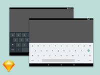 Android Tablet Keyboard Sketch Freebie