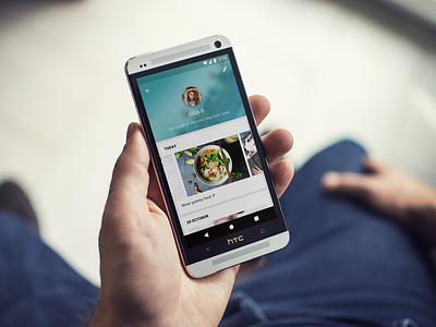 User Profile #DailyUI #006 material design app daily phone ui design android blue profile user