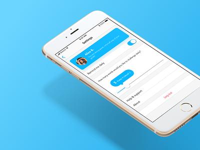 Settings #DailyUI #007 ui dailyui settings design app ios