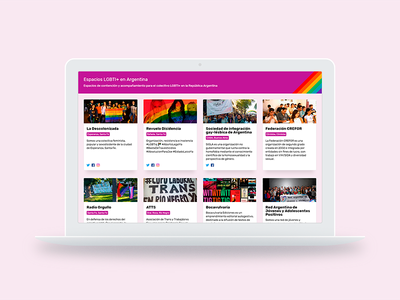 LGBTI+ spaces in Argentina lgbt lgbti javascrpit css html interface react web ux ui