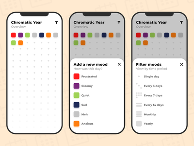 Chromatic Year experience design user interface project app ux ui