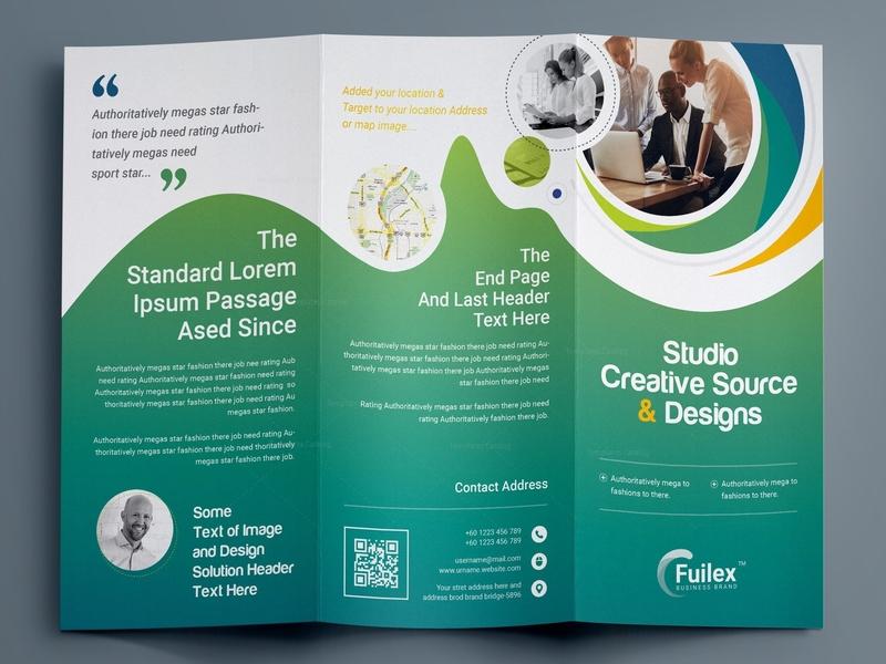Professional Tri Fold Brochure Template By Krishno Chandra Pramanik