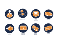 Icon Set - Delivery Services
