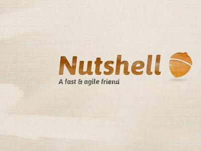 Nutshell logo design logo design typography texture branding