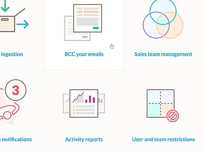 Nutshell web design illustration iconset icons features tour web design