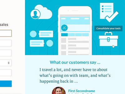 Nutshell web design crm landing page illustration nutshell responsive home page web design