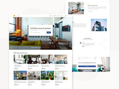 Sublet.com Case Study apartment sketch design website graphic  design landing page ux ui landing page design landingpage modern