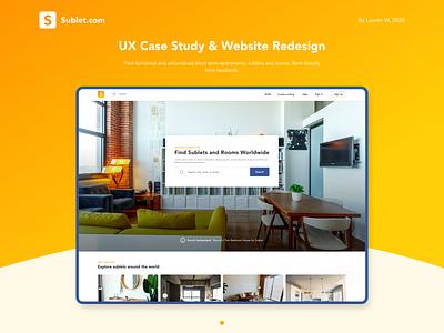 Sublet.com UX Case Study app landing page design sublets web design ui mobile mobile design app design landing page ux modern