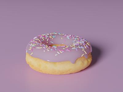 Donut ui ux icon branding ui vector illustration food donut blender 3d blender design modern