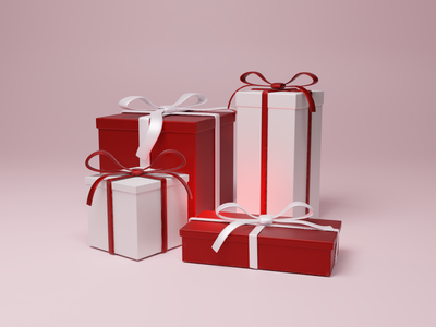 Holiday Gift Wrap landing page website graphic  design graphicdesign blender 3d happy holidays christmas card ui design ui  ux ux 3d art winter holidays presents christmas gifts blender