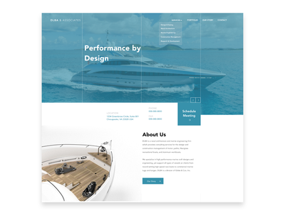 DLBA Re-Design yachting yacht ux adobe logo sketch branding cyphersociety landing page ui ux graphic  design website modern design