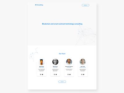 ZK Consulting landing page branding ui graphic  design web ui ux website modern design ux