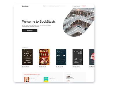 BookStash sketch cyphersociety app website branding ui design ux modern landing design landing page books