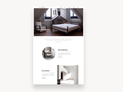XO Interior graphic  design web sketch landing page website ui ui ux design ux modern