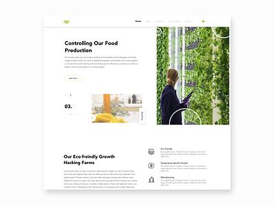 Vertical Farm Website sketch branding graphic  design ui landing page ui ux website design ux modern