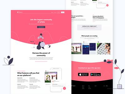Designspace landing page ux mobile app design mobile ui art ui ux modern design website graphic  design ui landing page