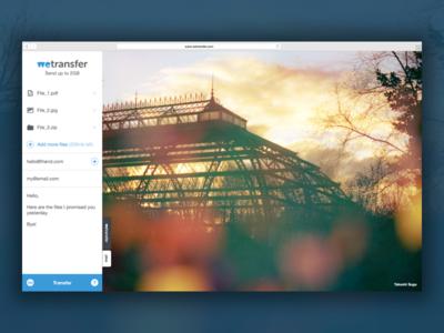 WeTransfer website redesign wetransfer