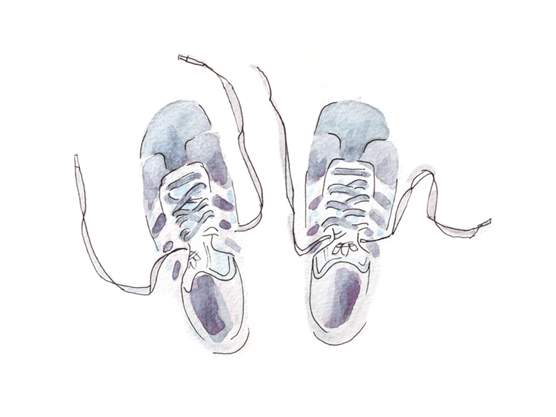Gazelles portraits shoes watercolors