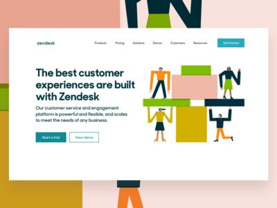 The Zendesk Suite zendesk homepage