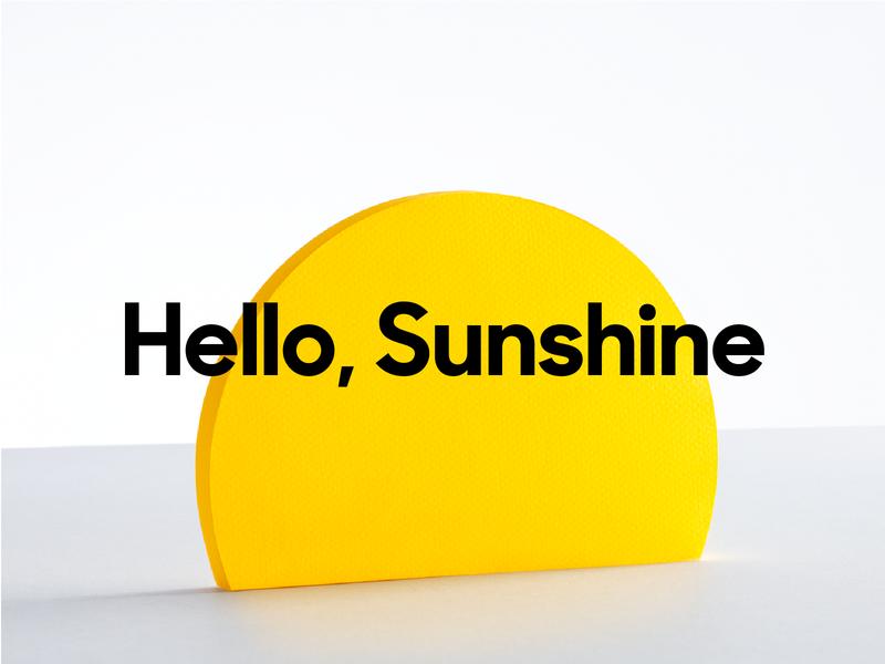 Hello, Sunshine shapes logo platform zendesk