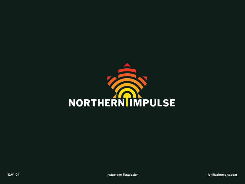 Daily Logo 04 - Northern Impulse dailylogochallenge dailylogo canadian impulse northern challenge daily identity branding mark logo