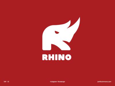 Daily Logo 10 - R + Rhino