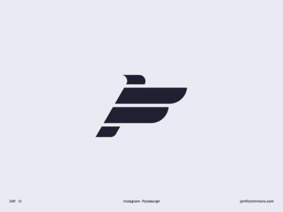 Daily Logo 11 - F + Bird
