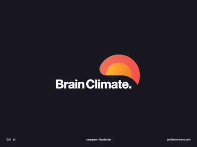 Daily Logo 12 - Brain Climate dailylogochallenge dailylogo bird mental health climate brain challenge daily identity branding mark logo
