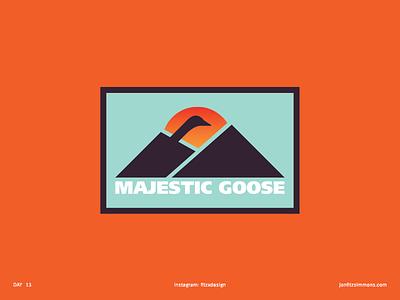 Daily Logo 13 - Majestic Goose logo mark branding identity daily challenge badge patch majestic goose dailylogo dailylogochallenge