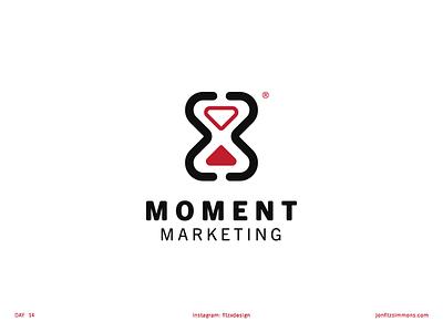 Daily Logo 14 - Moment Marketing dailylogochallenge dailylogo time hourglass marketing moment challenge daily identity branding mark logo