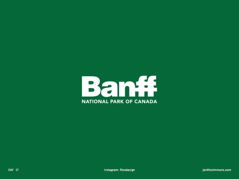 Daily Logo 17 - Banff National Park logo mark branding identity daily challenge national park banff logotype wordmark dailylogo dailylogochallenge