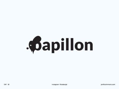 Daily Logo 18 - Papillon Dog