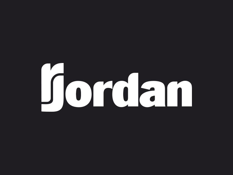 Round RJ Monogram + Wordmark logotype custom type typography wordmark word mark j r monogram logo identity branding