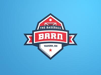 The Baseball Barn - Logo patch facility esports badge sports barn baseball logo identity branding