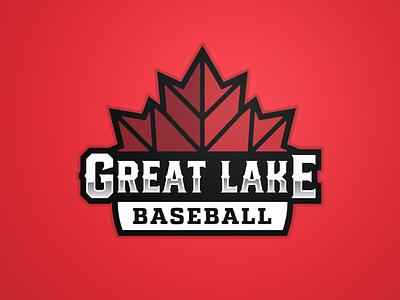 Great Lake Canadians - Logo Crest sports baseball crest badge logotype mark identity branding logo