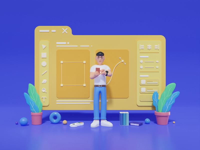 Blender 3D - Human uiux ui b3d blender3d blender