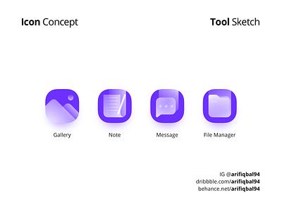Glass Icons - Concept glassmorphism uiuxdesigner uidesigner icondesigner icondesign icon uiux uidesign ui