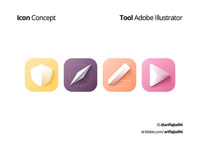 3D Icon - Concept illustrator illustration 3d mobileui uxdesigner uidesigner uxdesign uidesign ux ui icon design iconography icon set icon