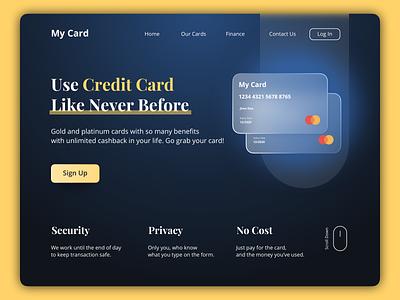 Credit Card Landing Page - Concept sketch creditcard landing page design landingpage uxdesigner uidesigner uxdesign uidesign uiux ux ui