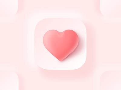 3D Love Icon sketch valentine day valentine 3dicon 3d loveicon love iconography icondesigner icondesign icon