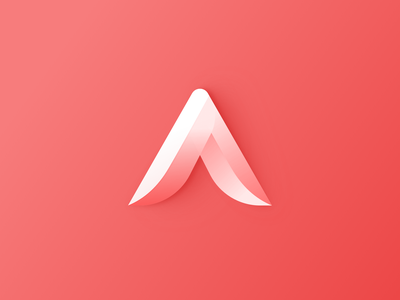 A Logo typelogo logodesigner branddesign branding brand 3dlogo gradientlogo logodesign typedesign vector logo