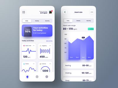 Health Tracker Mobile App Design fitness app mobile clean ios health tracker ux ui design app user interface