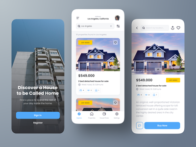 Real Estate Mobile App UI Design ios clean product design housing apartment home rent property real estate user interface ux ui mobile app